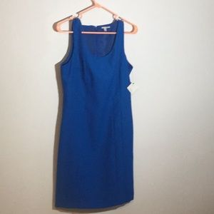 Beautiful in blue. Nice and simple dress.